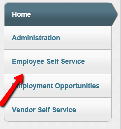 Munis Employee Self Service link in the left side navigation.